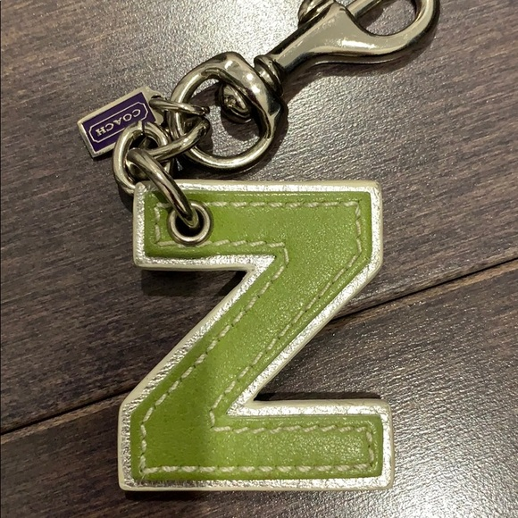 """Coach leather letter """"Z"""" keychain"""